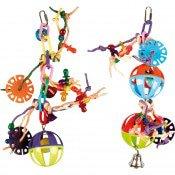 Vogelspeelgoed Bal Met Papieren touwtjes