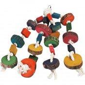Kooihanger Papegaaienspeelgoed Kralen - 4 Touwen