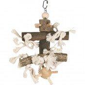 Vogelspeelgoed Kooihanger Hout met Stekelbal