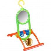 Vogelspeelgoed Spiegel met Bel